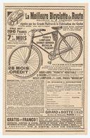 PUB PUBLICITÉ 1913 - GIRARD & BOITTE La MEILLEURE BICYCLETTE De ROUTE - PERRY'S MICHELIN PEUGEOT DAUNAY BOWDEN - BIKE - Advertising