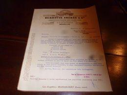 FF1 Document Commercial Facture   Rennotte Bruxelles 1955 Laines Flocons Poils De Lapin - Belgien