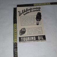 RT1767 PUBBLICITA' GENOVA TOURING OIL S.A. LUBRIFICANTI E. FOLTZER - Victorian Die-cuts