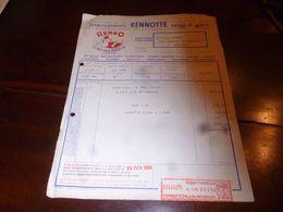 FF1 Document Commercial Facture   Rennotte Bruxelles 1953 Laines Flocons Poils De Lapin - Belgien