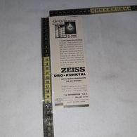 RT1768 PUBBLICITA' ZEISS URO PUNKTAL LA MECCANOPTICA S.A.S. MILANO - Victorian Die-cuts