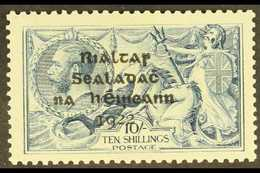 1922  10s Dull Grey- Blue With SHORT THIRD LINE Overprint Variety, Hibernian T14d, Very Fine Mint. For More Images, Plea - Irlande