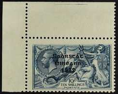 """1922-23  10s Dull Grey-blue Seahorses With """"Saorstat"""" Overprint (SG 66) With MAJOR RE-ENTRY (position R. 1/1) Variety, H - Irlande"""