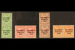 """1922-23 LONG """"1"""" IN """"1922"""" VARIETIES.  Harrison Overprints Complete Set, SG 67/70, Fine Mint PAIRS With One Stamp In Eac - Irlande"""