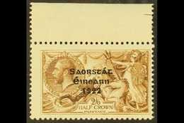 """1922-23  Overprinted Bradbury Wilkinson 2s6d """"Seahorses"""" With Major Re-entry (R. 1/2), SG 64a, Showing Clear Doubling Of - Irlande"""