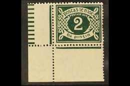 1925 POSTAGE DUE  2d Deep Green, SG D3, Fine Never Hinged Mint Lower Left Corner Example, With RPSL Certificate. For Mor - Irlande