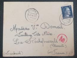 COVER 1944 - ANKLAM 3 H - Ae - To La Rochefoucauld FRANCE - Duitsland