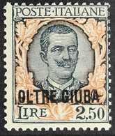 "JUBALAND  1926 2.50L Myrtle & Orange, Ovptd ""OLTRE GIUBA"" (Sassone 44, SG 43), Never Hinged Mint, Very Fresh. For More I - Italie"