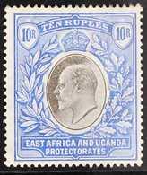 1903-04  10r Grey & Ultramarine KEVII Wmk Crown CC On Chalk-surfaced Paper, SG 14a, Fine Mint, Light Hinge Remnant, Love - Par EDITEURS