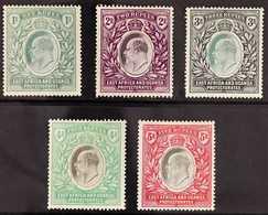 1904-07  1r Green, 2r Dull & Bright Purple, 3r Grey-green & Black, 4r Grey & Emerald-green And 5r Grey & Red KEVII All O - Par EDITEURS