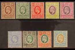 1907-08  Complete Definitive Set, SG 34/42, Fine Mint. (9 Stamps) For More Images, Please Visit Http://www.sandafayre.co - Par EDITEURS