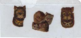 Chromo Decoupis Ancien   3 Chats  Hauteur   Hauteur 4 Cms Environs - Animals