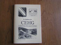 CEHG Revue N° 38 Gedinne Régionalisme Wallon Semoy Louette Sart Custinne Cloche Relais Jeu Quilles Bièvre Guerre 40 45 - Belgium