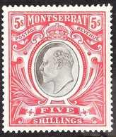 1903  5s Black & Scarlet, SG 23, Very Fine Mint, Fresh. For More Images, Please Visit Http://www.sandafayre.com/itemdeta - Montserrat