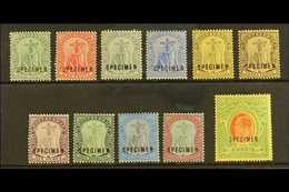 """1908-14  Complete Set With """"SPECIMEN"""" Overprints Inc Both 3d, SG 35s/47s & 40as, Fine Mint, 5s With One Shortish Perf At - Montserrat"""