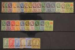 """SPECIMENS  Selection Of Mint Stamps Incl Geo V , Wmk Script, Vals To 5s Overprinted """"Specimen"""". (32 Stamps) For More Ima - Montserrat"""