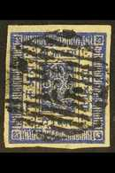 1881  White Wove Paper, Imperf, 1a Deep Ultramarine (Hellrigl 4a, SG 4, Scott 4), Fine Used With 4 Good Margins. For Mor - Népal