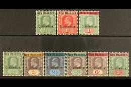 1908  Fiji Opt'd KEVII Set, SG 1a/9, Fine Mint (9 Stamps) For More Images, Please Visit Http://www.sandafayre.com/itemde - New Hebrides