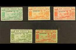 ENGLISH  1938 Postage Due Set, SG D6/10, Fine Mint. (5 Stamps) For More Images, Please Visit Http://www.sandafayre.com/i - New Hebrides