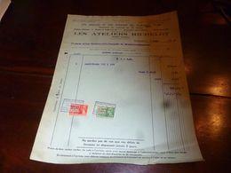 FF1 Document  Facture   Les Ateliers Richelot Lits Anglais Et Lits D'enfant Nivelles Est 1939 Avec Mandat De Paiement - Belgien