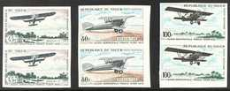 1968  Air Mail Service - Aircraft Complete Set, Scott C83/85, Superb Never Hinged Mint IMPERF PAIRS, Very Fresh. (3 Pair - Unclassified
