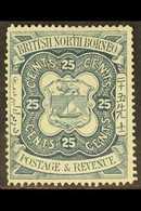 1888-92  25c. Indigo, SG 45, Fine Mint. For More Images, Please Visit Http://www.sandafayre.com/itemdetails.aspx?s=63078 - North Borneo (...-1963)