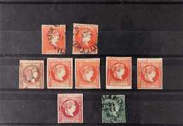 1856 - 1874 SUPERB IMPERFS SELECTION  Fine Used And Unused Range With 1859 5c Vermilion Used (2), 1863 N5c Vermilion Unu - Filipinas