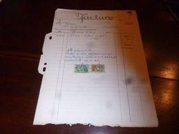 FF1 Document  Facture  J.A. Sirjacobs 1953 Herinnes Lez Enghien Fabricant De Meubles - Belgien
