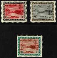 1964-72  Wadi Hanifa Dam (King Saud Cartouche) 6p, 7p And 10p (SG 562/63 & 566, Scott 291/92 & 295), Never Hinged Mint.  - Arabie Saoudite