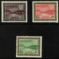 1966-75  (King Faisal Cartouche) Wadi Hanifa Dam 5p, 13p And 20p (SG 692, 700 & 707, Scott 397, 405 & 412), Never Hinged - Arabie Saoudite