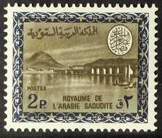 1968-76  Wadi Hanifa Dam (King Faisal Cartouche, With Watermark) 2p Dark Blue & Sepia (Scott 462, SG 779), Never Hinged  - Arabie Saoudite