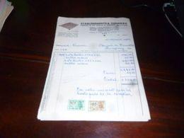 FF1 Document  Facture  Ets R Theisman Fabrique De Lits Anglais 1953 Ans - Belgien