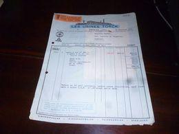 FF1 Document  Facture Les Usines Torck Deinze 1953 - Belgien