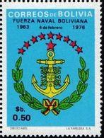 Bolivia 1976 ** CEFIBOL 1031 Homenaje A La Fuerza Naval Boliviana. Insignia Naval - Bolivia
