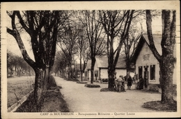 Cp Camp De Chalons Camp De Mourmelon Marne, Baraquements Militaires, Quartier Loano - France