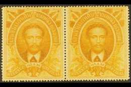 REVENUE STAMPS  1883 1t Yellow Ochre King Chulalonhkorn, BF 5, Very Fine Unused Pair. For More Images, Please Visit Http - Tailandia