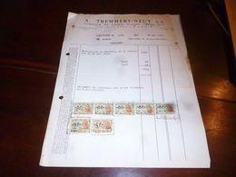 FF1 Document  Facture A. Tremmery Neut Fabrique De Sièges Divans Clubs - Menin 1953 - Belgien