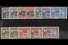 1952  Complete Overprinted Set, SG 1/12, Fine Never Hinged Mint. (12 Stamps) For More Images, Please Visit Http://www.sa - Tristan Da Cunha