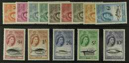 1960  Marine Life Definitives Complete Set, SG 28/41, Never Hinged Mint. 14 Stamps) For More Images, Please Visit Http:/ - Tristan Da Cunha