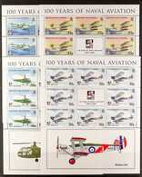 2009  Centenary Of Naval Aviation Set, SG 939/42, In COMPLETE SHEETLETS OF EIGHT, Never Hinged Mint. (4 Sheetlets = 32 S - Tristan Da Cunha