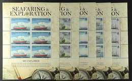 2009  Seafaring And Exploration Set, SG 932/37, In COMPLETE SHEETLETS OF SIX, Never Hinged Mint. (6 Sheetlets = 36 Stamp - Tristan Da Cunha