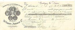 Traite 1895 / 45 ORLEANS / Manufacture De Couvertures De Laine / GILBERT & PERRAULT - Lettres De Change