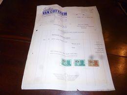 FF1 Document  Facture Emailleries Van Cotthem Zuen Zuun (Bruxelles) 1952 - Belgien