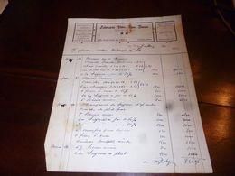 FF1 Document  Facture Edouard Van Den Bauw Polmbier Zingueur Charleroi 1940 - Belgien