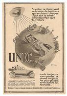 PUB PUBLICITÉ 1913 - VOITURE AUTOMOBILE UNIC 10 HP 12 HP 17 HP NUS Ou CARROSSÉS AMBULANCE CAMION PETIT OMNIBUS - PUTEAUX - Advertising