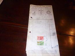 FF1 Document  Facture Ets Ch Van Eycken Bruxelles Cycles Volta Motorcycle BSA Peugeot Cycles 1940 - Belgien
