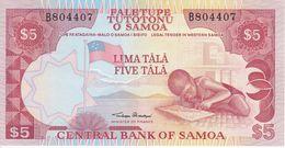BILLETE DE SAMOA DE 5 TALA DEL AÑO 1995 SIN CIRCULAR - UNCIRCULATED (BANK NOTE) - Samoa
