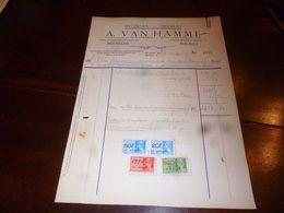 FF1 Document  Facture Meubelen A. Van Hamme Malines Mechelen 1940 - Belgien