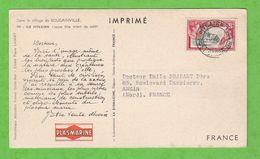 CARTE POSTALE PUBLICITAIRE LABORATOIRE PLASMARINE - DANS LE SILLAGE DE BOUGAINVILLE III - ILE PITCAIRN J. FILLE TRIANT C - Briefmarken