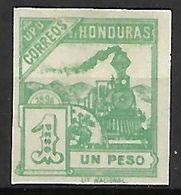 HONDURAS    -     1898.     Y&T N° 91 (*)   . Non Dentelé.      Train   /   Loco. - Honduras